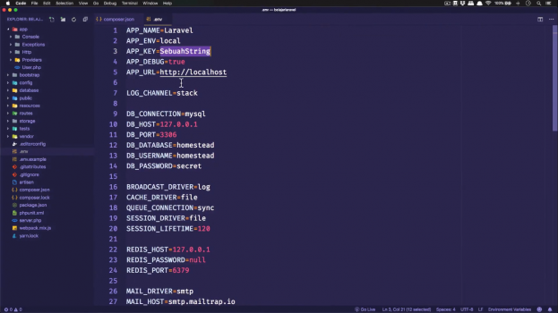 Screenshot Materi Kelas Online Dasar-dasar Framework Laravel 6