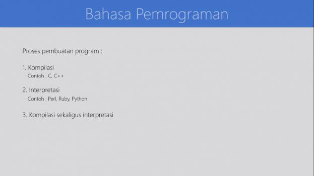 Screenshot Materi Kelas Online Algoritma dan Pemrograman Dasar