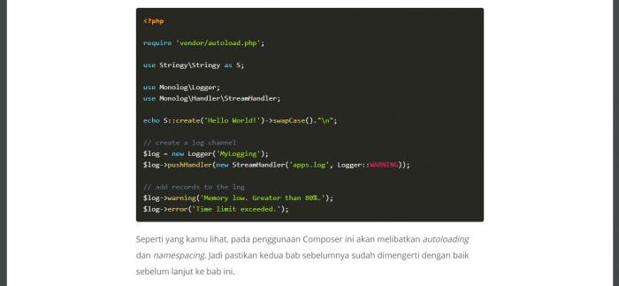 Screenshot Materi Kelas Online Pemrograman Berorientasi Objek di PHP - Lanjutan