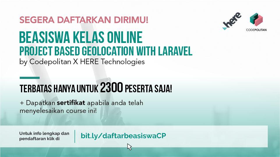 Tetap Produktif Dengan Beasiswa Kelas Online CodePolitan - CodePolitan.com