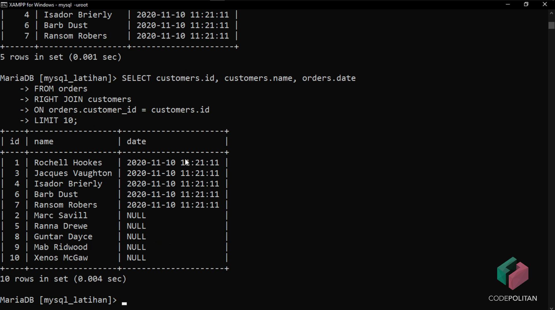 Screenshot Materi Kelas Online Pengenalan Database Menggunakan MySQL