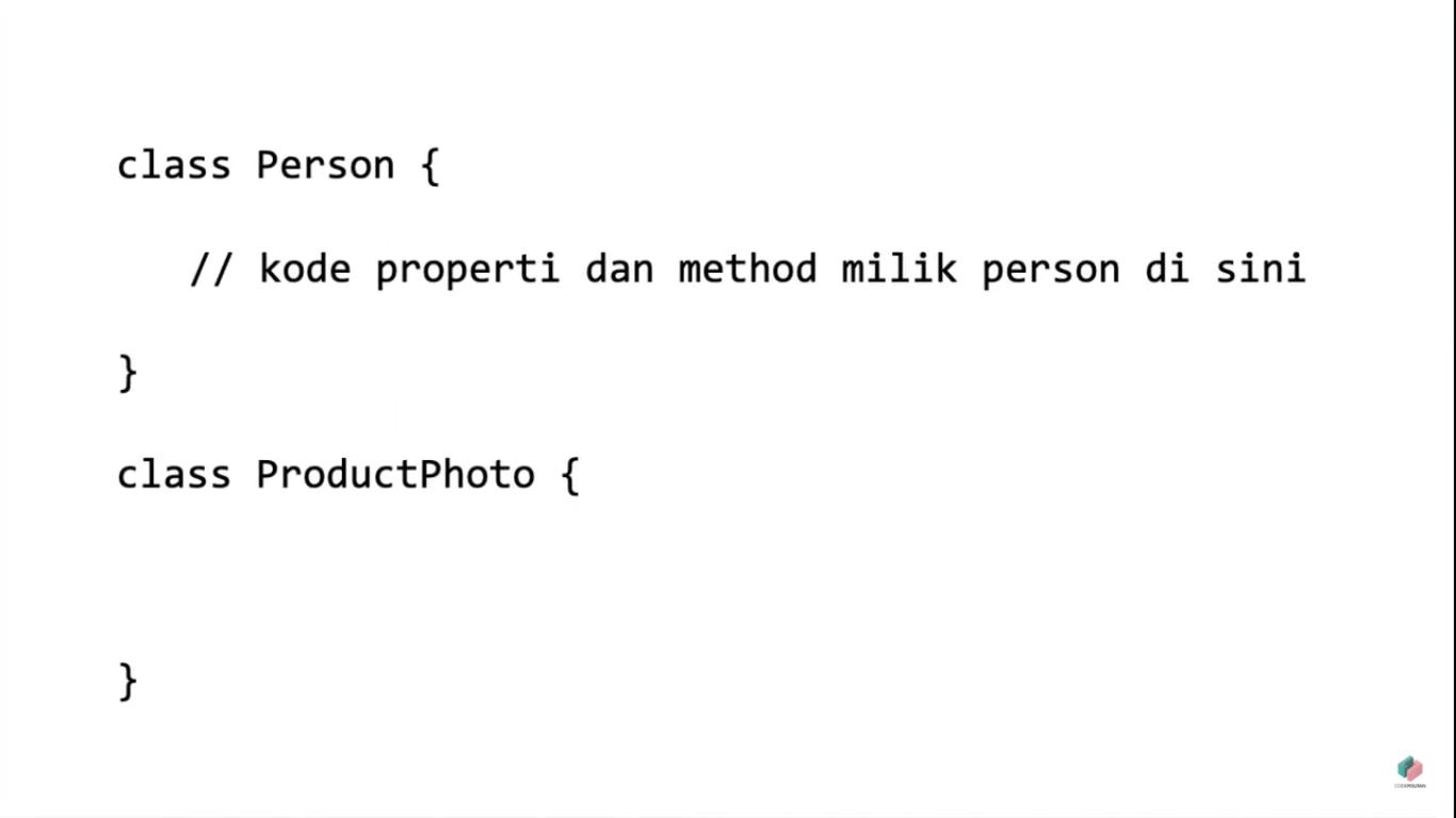 Screenshot Materi Kelas Online Konsep Dasar Pemrograman Berorientasi Objek di PHP