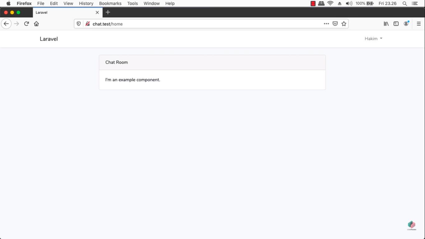 Screenshot Materi Kelas Online Membuat Realtime Chatroom dengan Websocket Menggunakan Laravel dan Vue